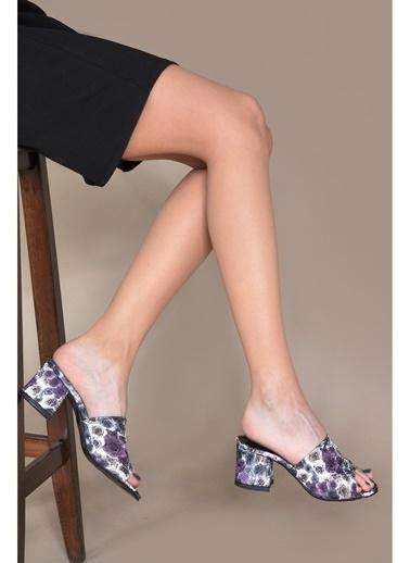 Vizon Ayakkabı Terlik Mor
